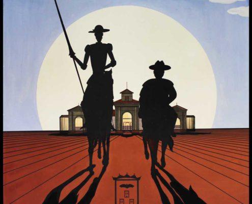 Cartel anunciador de la Feria de Albacete. Luis De Garrido, cuando era estudiante de Arquitectura. 1980