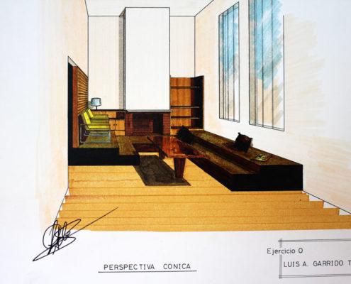 Diseño de Casa Cubo. Interior. Luis De Garrido con 17 años de edad
