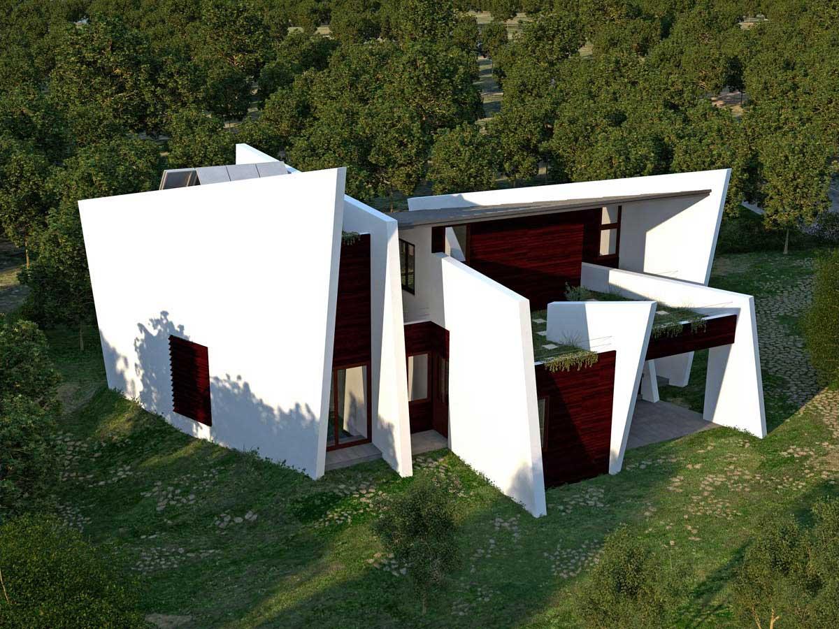 2007 almudena eco house luis de garrido for Arquitectura de proyectos