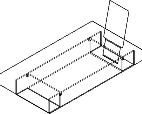 vitrohouse esquemas (105) CAMA SENCILLA DE VIDRIO