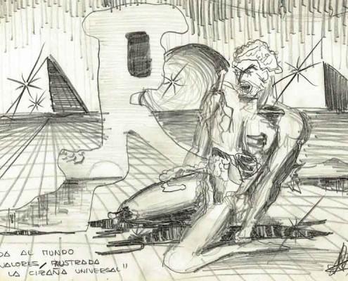 Dibujo de Luis De Garrido con 13 años de edad.