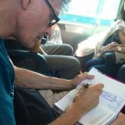 LUIS DE GARRIDO diseñando. Tren Florencia-Roma. Julio 2015
