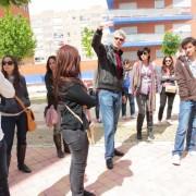 Luis De Garrido con alumnos. Madrid