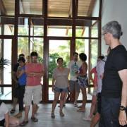 Luis De Garrido con alumnos. Torres Eco-House. Castellón