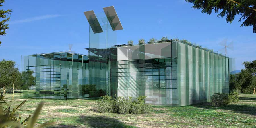 Vitrohouse. Vivienda multimedia realizada únicamente con vidrio plano. Luis De Garrido 1
