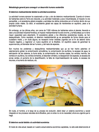 Metodología general para lograr un desarollo humano sostenible