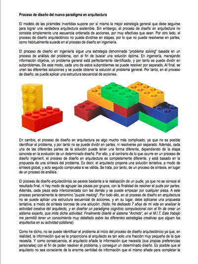 Proceso de diseño conceptual para un nuevo paradigma en arquitectura