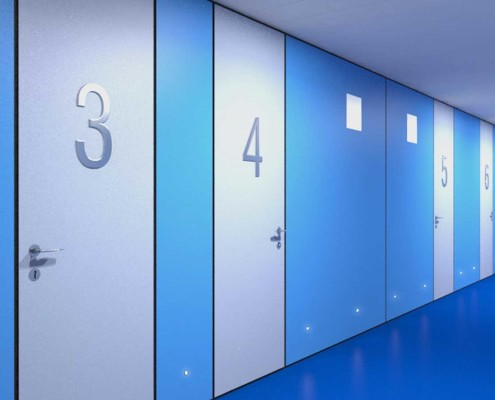 I-Sleep Eco-Hotel Interior Azul Pasillo (1)