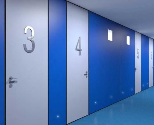 I-Sleep Eco-Hotel Interior Azul Pasillo (3)