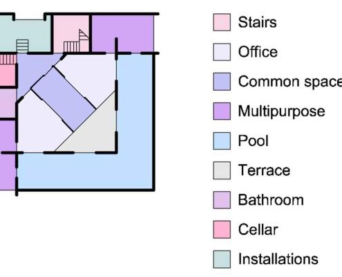 compositiva espacios sotano