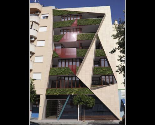 1. MISIA Eco-Building. Fachada Sur. Denia. Alicante. Spain. Luis De Garrido