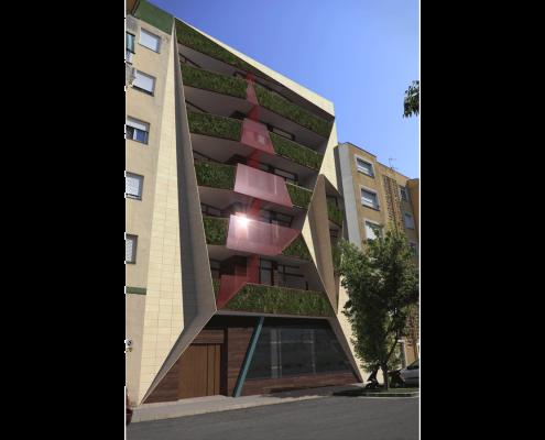 11. MISIA Eco-Building. Fachada Norte 2. Denia. Alicante. Spain. Luis De Garrido