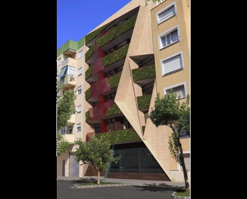 2. MISIA Eco-Building. Fachada Norte. Denia. Alicante. Spain. Luis De Garrido