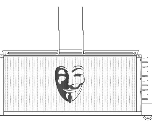 Anonymous-II Eco-House. Alzado Norte