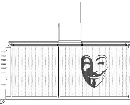 Anonymous-II Eco-House. Alzado Sur (cerrado)