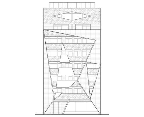 27. MISIA Eco-Building. Denia. Alicante. Spain. Luis De Garrido. Alzado Norte