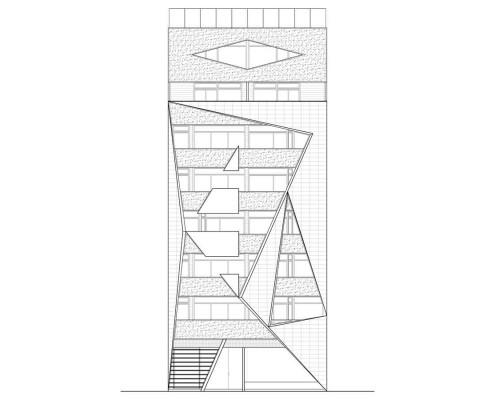 28. MISIA Eco-Building. Denia. Alicante. Spain. Luis De Garrido. Alzado Sur