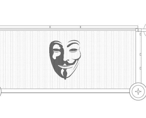 Anonymous-I Eco-House. Alzado Norte