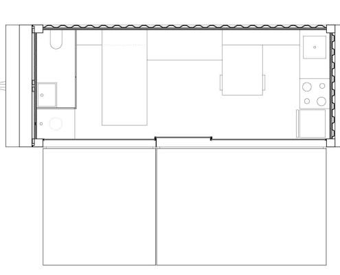 Anonymous-II Eco-House. Planta (abierto)