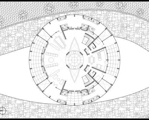 Eye of Horus Eco-House. Planta baja