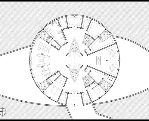 Eye of Horus Eco-House. Planta sotano