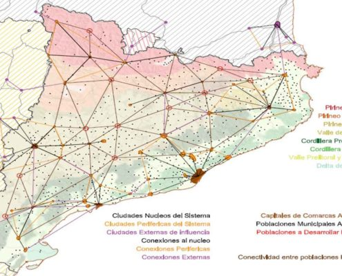 CATALUÑA 2200. Reestructuración del sistema de ciudades de Cataluña. Año 2200 (principal)