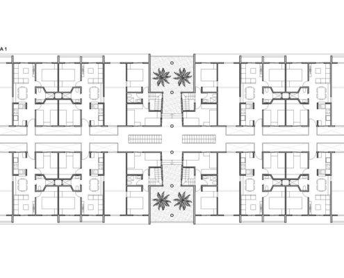 EL RODEO Eco-City. Bloque viviendas VIP ampliables (40 a 70 m2) Tipo A (2)