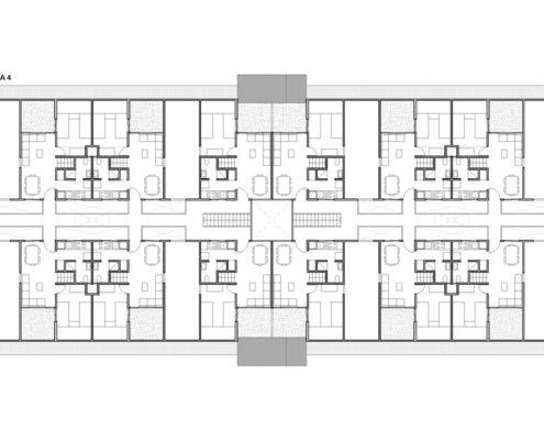 EL RODEO Eco-City. Bloque viviendas VIP ampliables (40 a 70 m2) Tipo A (3)