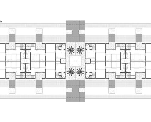 EL RODEO Eco-City. Bloque viviendas VIP ampliables (40 a 70 m2) Tipo A (4)