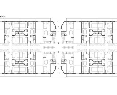 EL RODEO Eco-City. Bloque viviendas VIP ampliables (40 a 70 m2) Tipo A (5)