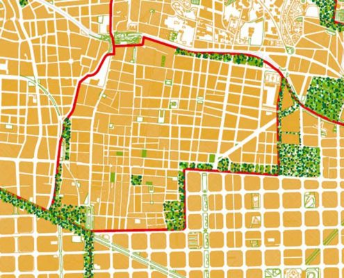 La nueva ciudad autosuficiente Gracia. Ciudad Federal Barcelona. 2200