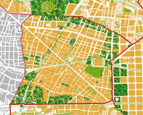 La nueva ciudad autosuficiente Sants. Ciudad Federal Barcelona. 2200