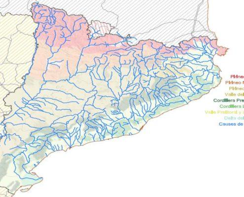 Mapa Hidrologico de Catalunya