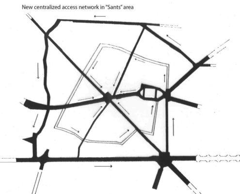 Reestruración viales de Sants. Ciudad Federal Barcelona. 2200