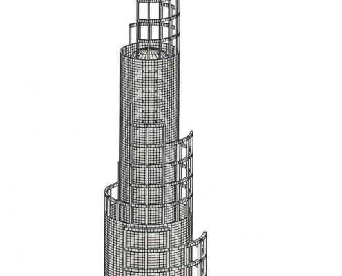 Telemática 2025 Eco-Tower 1. Barcelona. Spain. 1986. Luis De Garrido