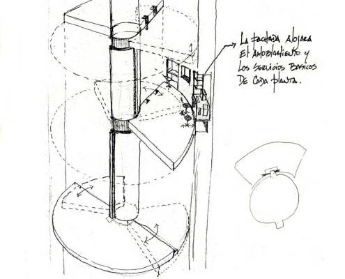 Telemática 2025 Eco-Tower 10. Barcelona. Spain. 1986. Luis De Garrido