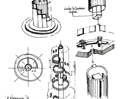Telemática 2025 Eco-Tower 11. Barcelona. Spain. 1986. Luis De Garrido