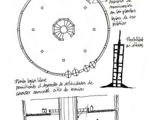 Telemática 2025 Eco-Tower 6. Barcelona. Spain. 1986. Luis De Garrido