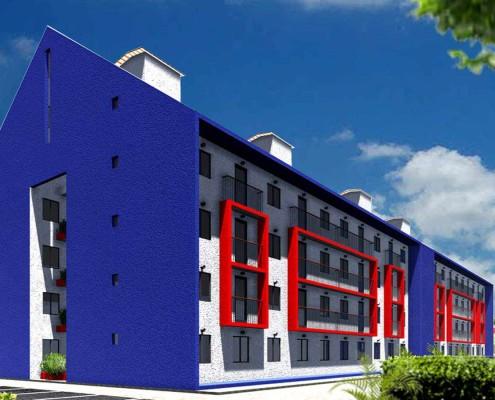 11. El Rodeo Social Eco-City. Building view